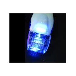 dermaroller con luz led azul de 0.5mm