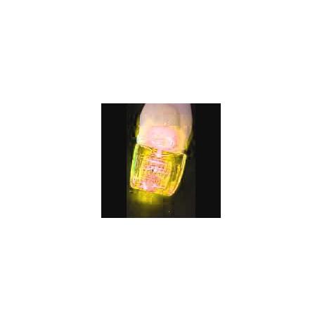dermaroller con luz led amarilla de 1.0mm